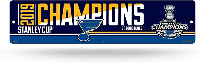 Rico Industries NHL St. Louis Blues 16-Inch Plastic Street Sign Decor16-Inch Plastic Street Sign Decor, Blue, 17
