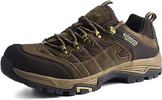 Knixmax Men's Hiking Shoes Waterproof Walking Shoe Breathable Lightweight Outdoor Camping Trekking Sneakers Non Slip Low Cut Boots