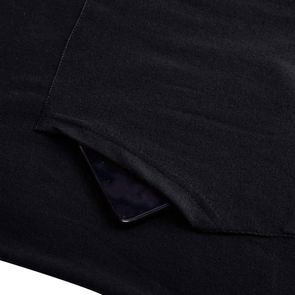 Leey Damen Mode Hoodie mit Zip Langarm Pullover Jumper Pulli Sweatshirt Jumper Sweatkleid 4 Farben 01-blau