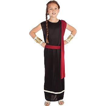 Bristol Novelties Disfraz de romana para niñas, en color rojo ...