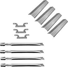DcYourHome Gas Grill Parts Kit incl.4pack Burners & 3pack Carryover Tubes,4pack Heat Plates Replacement Brinkmann 810-1420-0