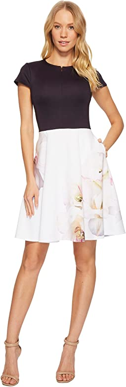 Ted Baker - Parys Gardenia Cut Out Skater Dress