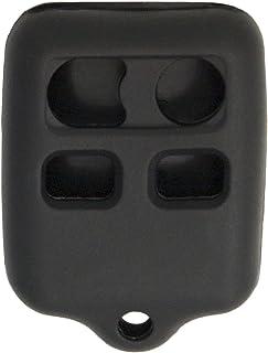 Keyless2Go New Silicone Cover Protective Case for 4 Button Remote Key Fobs FCC CWTWB1U345 CWTWB1U331 - Black
