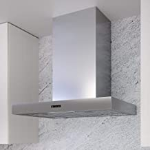 Miseno MH00830BS 290-750 CFM 30 Inch Wide Wall Mounted Range Hood with LED Strip Lighting and Capacitive Controls