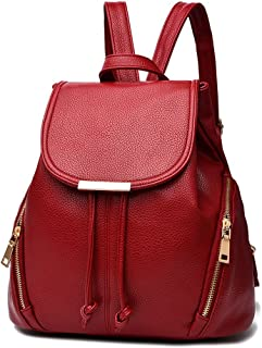 61d284fe144c KARRESLY Women s Mini Backpack Purse PU Leather Rucksack Purse Ladies  Casual Shoulder Bag School Bag for