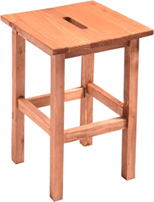 soggiorno e bar HOUSE COLLECTION Sgabello in legno naturale 29 x 29 x 45 cm