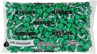 HERSHEY'S KISSESChocolate Candy , Green Foils,4.1 lb Bulk Candy