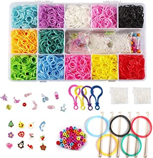 Kofun Rubber Bands Rainbow Mega Refill Loom Rubber Bands DIY Bracelets Bands Party Favor Art Crafts For Girls Ideal Christmas Birthday Rubber Bands Gift For Kids 600 Pieces 1#
