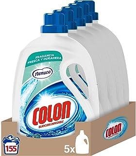 Colon Nenuco - Detergente para lavadora, adecuado para ropa blanca y de color, formato gel - pack de 5, hasta 155 dosis