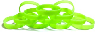 1 Dozen Multi-Pack Blank Wristbands Bracelets Silicone Rubber - Select from a Variety of Colors