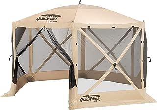 Clam Quick-Set Escape Portable Outdoor Gazebo Canopy, Tan