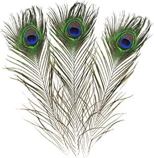 Real Natural Peacock Feathers 16-18 inches (40~45cm) Great Wedding Christmas Halloween Decorations House Decoration (10)