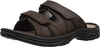 Propet Men's Vero Slide Sandal, Brown, 13 3E US