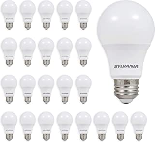 SYLVANIA 40986 LED A19 Light Bulb, 60W Equivalent, Efficient 9W, Not Dimmable, Soft White Color Temperature, 24 Pack