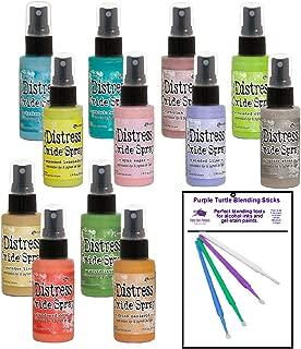 Ranger Tim Holtz Distress Oxide Spray Bundle New 2019 Release 3 Summer Colors - 12 Bottle Set - and Bonus Detail Sticks