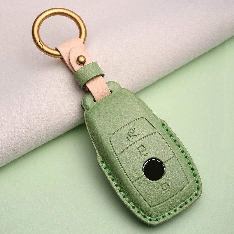 TPHJRM Leather car Key Cover Shell Fit 2021 for Mercedes case Over item handling ☆