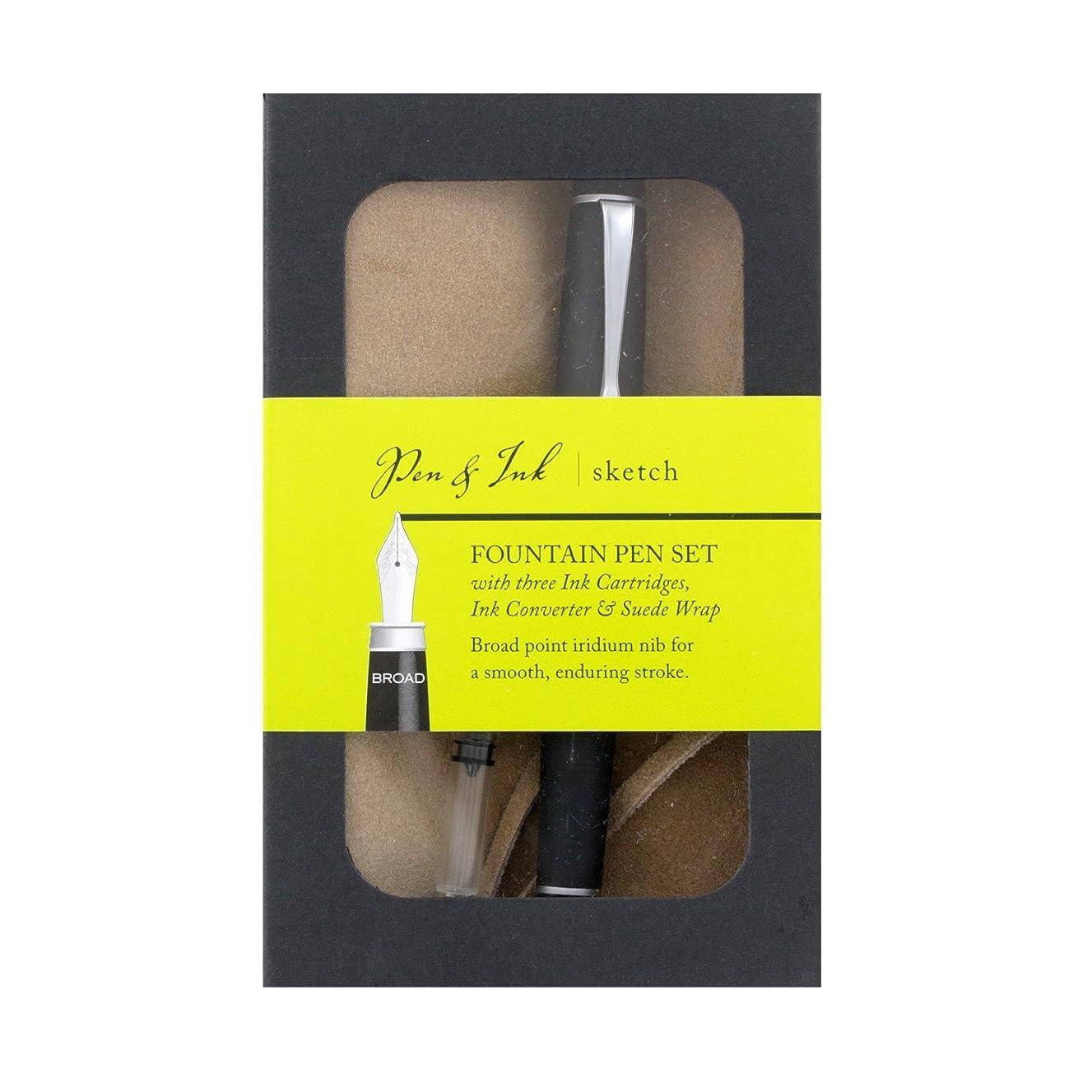 Art Alternatives Pen & Ink Sketch Fountain Pen Set - Broad