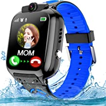 Kids Smartwatch Phone with WiFi/LBS Tracker for Girls Boys with IP67 Waterproof SOS Call Camera Touch Screen Game Alarm Ch...