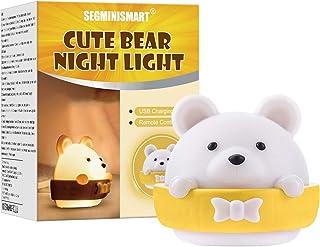 comprar comparacion Luz de noche para niños,Luz de noche de oso para niños,Lámpara de noche portátil y recargable para niños adultos dormitorio