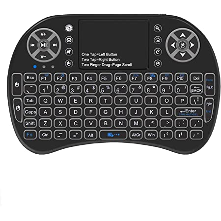 Black Wireless Mini Keyboard /& Mouse Easy Remote Control for Samsung JVC LT-49C770 49 Smart TV