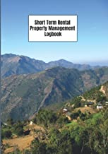 """Short Term Rental Property Management Logbook: Track your Tenants 7""""x10"""" 121 Pages Mountain Cover Theme"""