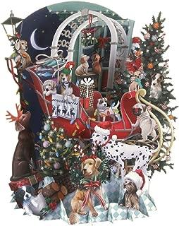 Paper D'Art 3D Pop Up Sleigh Dogs Christmas Card