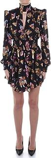 VERSACE Jeans Couture D2 HWA410 S0996 - Vestido corto para mujer, color negro, talla 42