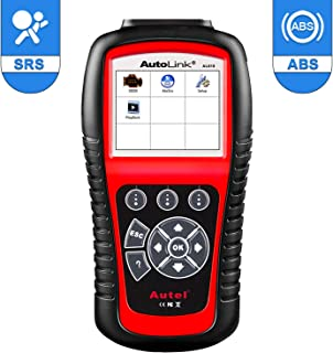 Autel AutoLink AL619 CAN OBD2 Code Reader ABS/SRS Scan Tool,Turn Off Engine Light (MIL) and ABS/SRS Warning Lights,Same Function as ML619