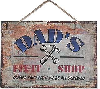 Dad's Fix-It Shop Sign, 10