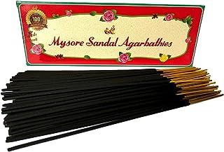 Mysore Sandal Agarbatti (8 cm, 125 g, Black, Pack of 6)