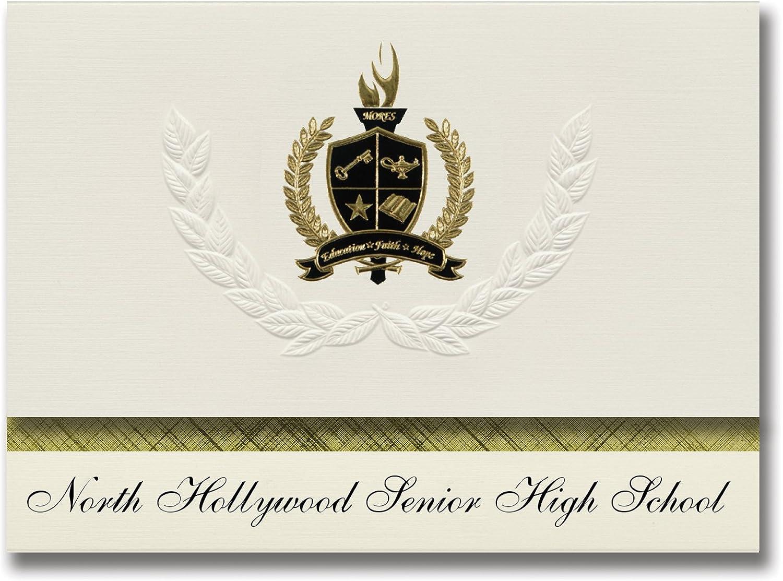 Signature Announcements North Hollywood Hollywood Hollywood Senior High School (North Hollywood, CA) Abschlussankündigungen, Präsidential-Elite Pack 25 mit Goldfarbenen und schwarzen metallischen Folienversiegelung B078VDDYSN   | Sale Online  4af49f