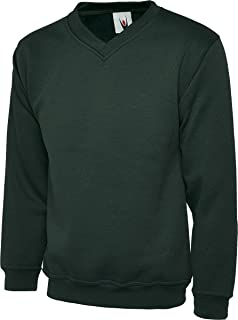 Uneek UC204 Mens Adults Premium V-Neck Casual Stylish Sweatshirt XS-2XL