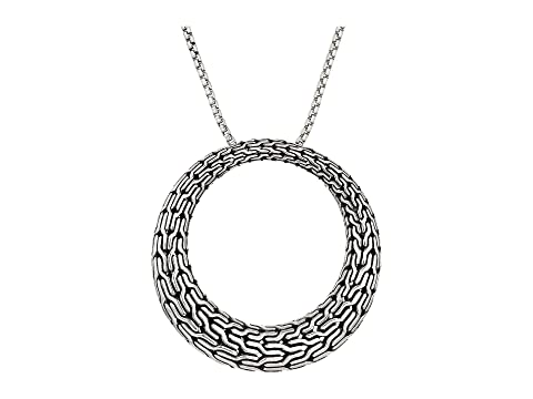 John Hardy Classic Chain Large Round Pendant On 1.6 mm. Box Chain Necklace