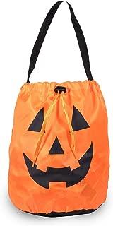 Windy City Novelties Led Halloween Pumpkin Draw String Trick or Treat Candy Bag