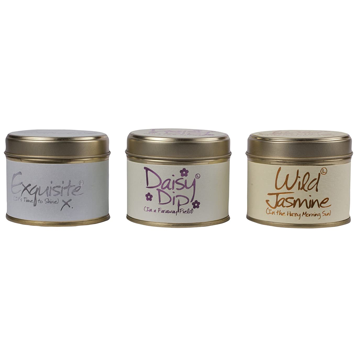 Lily-Flame Scented Candle Trio (Pack of 2) - ユリ炎香りのキャンドルトリオ (Lily-Flame) (x2) [並行輸入品]