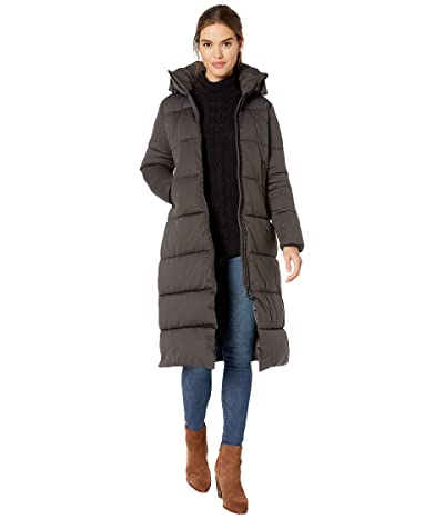 Save the Duck Bark 9 Quilted Puffer Jacket with Detachable Hood (Grey/Black) Women