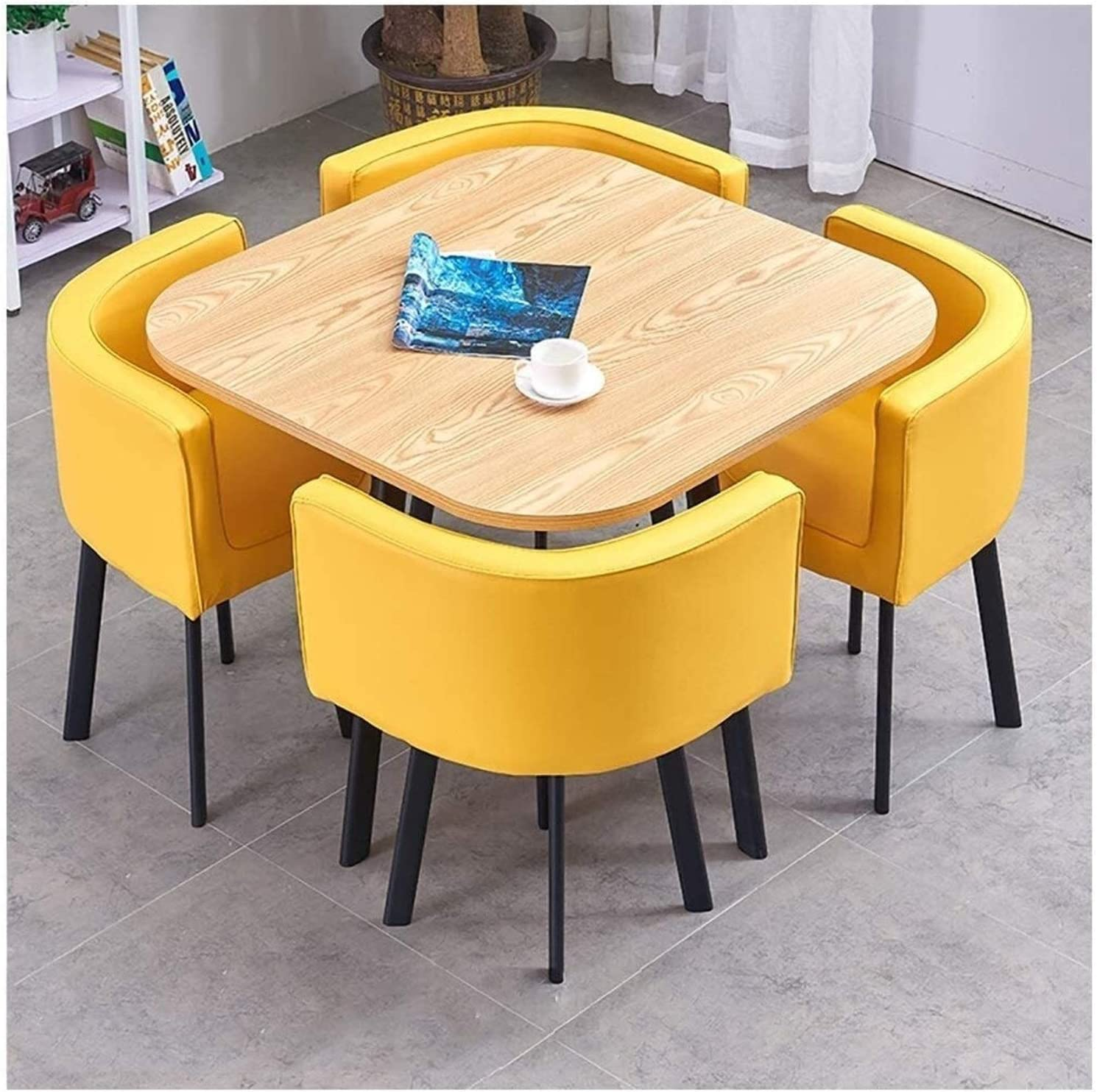 Dining Table and Chair Set Office Leisure NEW Max 77% OFF C