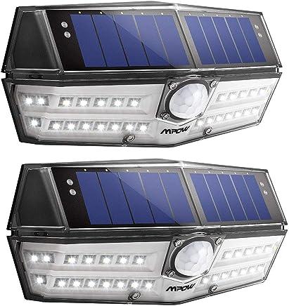 Mpow Solarlampe für Außen【Innovative Version】 Solarleuchte mit 120°Bewegungsmelder, IP67 Schutzart, 270 °Weitwinkel, 30 LEDs, Solarlicht 270 °Wandleuchte für Garten, Auffahrt, Hof, Garage -2 Stück