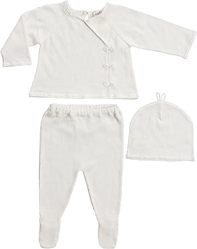 Angel Dear Dear Dear Girls Take Me Home Kimono Style 3 Piece Set Newborn-Ivory  mejor precio