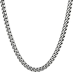 "Stainless Steel 26"" Curb Chain Necklace"