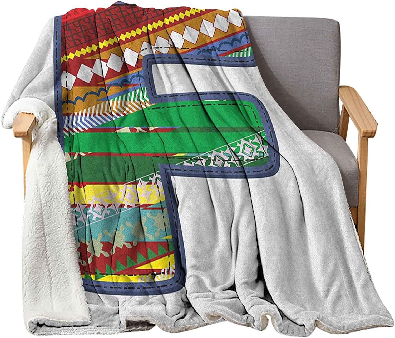 Interestlee Letter F Baby Blanket Phoenix Mall 60