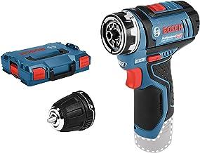 Bosch Professional GSR 12 V-15 FC - Atornillador a batería 12V, FlexiClick, sin batería, en L-BOXX)