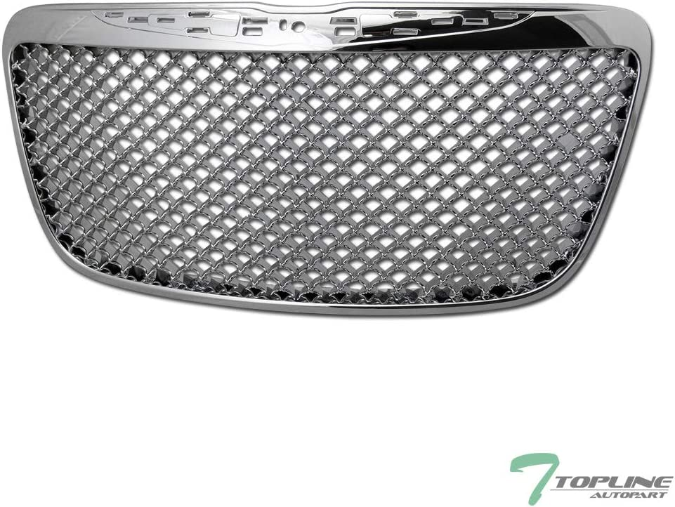 Topline Autopart Chrome Mesh 1 year warranty Front ABS 35% OFF Grille Bumper Hood Grill