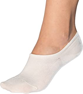 Bam&bü Women's Premium Bamboo No Show Casual Socks - 4 pair pack - Non-Slip