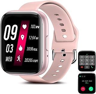 Smartwatch Pulsera Inteligente, Odar Reloj Inteligente Deportivo, Reloj Deportivo Pantalla Táctil Impermeable IP67 Monitor...