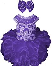 M_RAC Baby Girl's Crystal Jewel Pageant Cupcake Dress Birthday Party Mini Gowns