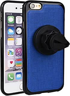 Kroo 360 Degree Rotating Magnetic Air Vent Car Mount for iPhone 6/iPhone 6s - Non-Retail Packaging - Blue
