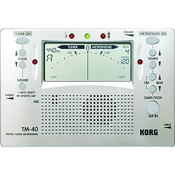 Korg TM40 Large Display Digital Tuner and Metronome