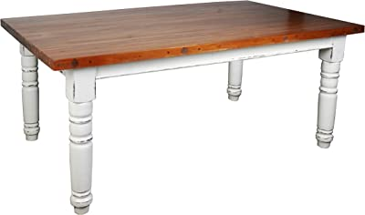 Sunset Trading Country Cottage Dining Tables, Rectangular, Distressed Antique White and Wood