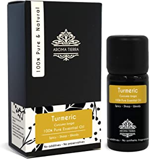Turmeric Essential Oil or Curcumin Oil (Curcuma longa) - Aroma Tierra - 100% Pure & Natural - 10ml